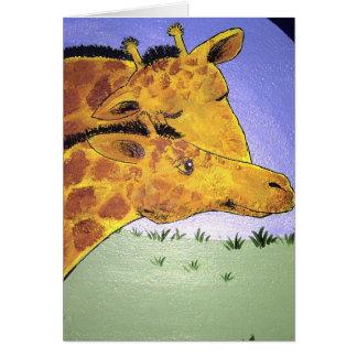 Giraffen-Liebe Karte