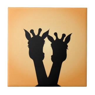 Giraffen-Liebe Keramikfliese