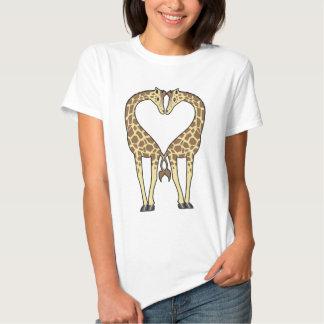 Giraffen-Liebe T Shirts