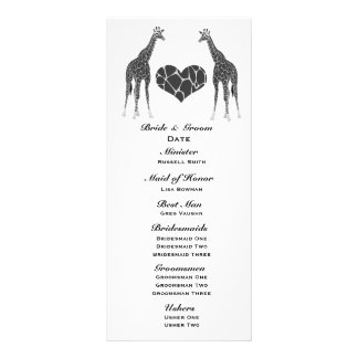 Giraffen-Liebe-Wedding Programm