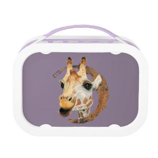 Giraffen-Malerei mit Imitat-Goldkreis-Rahmen Brotdose