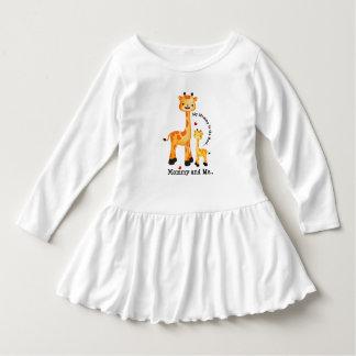 Giraffen-Mama und Kalb Kleid