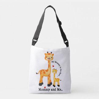 Giraffen-Mama und Kalb Tragetaschen Mit Langen Trägern