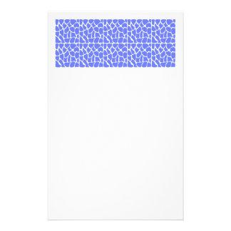 Giraffen-Muster. Cornflower-Blau Personalisiertes Druckpapier