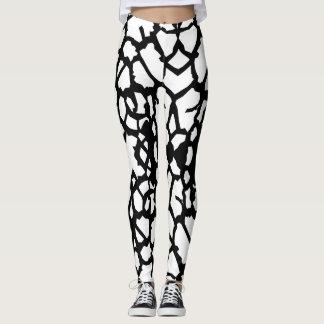 Giraffen-Muster-Schwarz-weiße Gamaschen a-1 Leggings