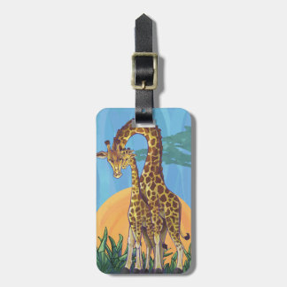 Giraffen-Mutter und Baby Gepäckanhänger