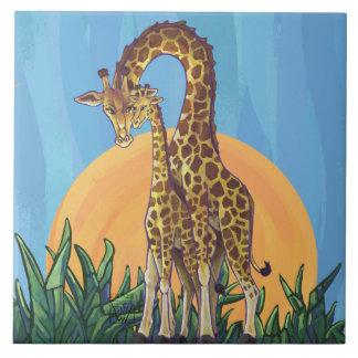 Giraffen-Mutter und Baby Keramikfliese