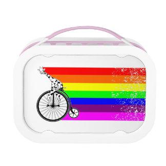 Giraffen-Regenbogen-Fahrrad Brotdose