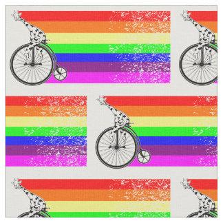 Giraffen-Regenbogen-Fahrrad Stoff