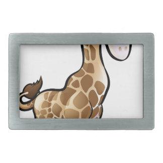 Giraffen-Safari-Tier-Cartoon-Charakter Rechteckige Gürtelschnallen