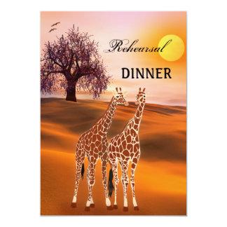 Giraffen-Safari-Zoo-Proben-Abendessen-Einladung 12,7 X 17,8 Cm Einladungskarte
