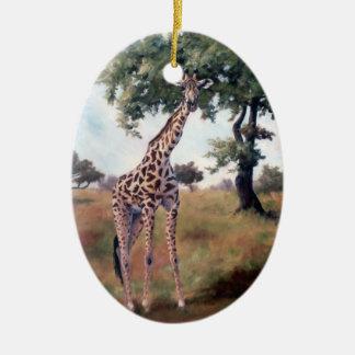 Giraffen-stehende hohe Verzierung Keramik Ornament