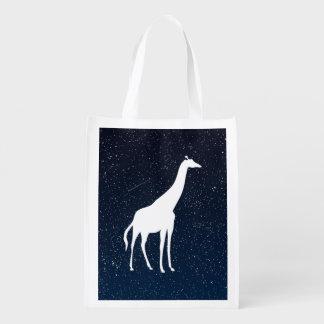 Giraffen-Tiere minimal Einkaufstasche