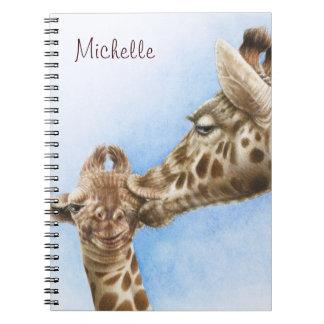 Giraffen-u. Kalb-Notizbuch Spiral Notizblock