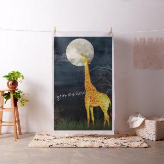 Giraffen-und des Mond-| Gewohnheit gekämmtes Stoff