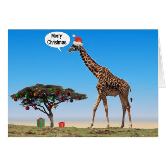 Giraffen-Weihnachten Karten