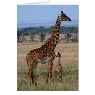 Giraffenfamilie Karte