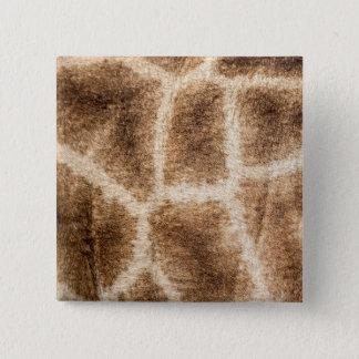 Giraffenmuster Quadratischer Button 5,1 Cm