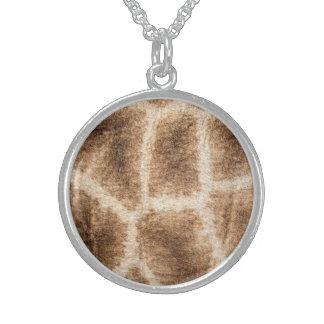 Giraffenmuster Sterling Silberkette