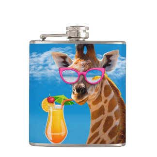 Giraffenstrand - lustige Giraffe Flachmann