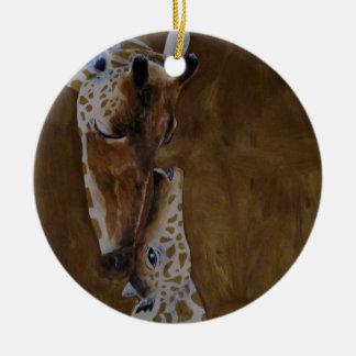 Giraffenverzierung Rundes Keramik Ornament
