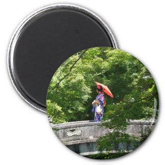 Girl Japan Runder Magnet 5,7 Cm