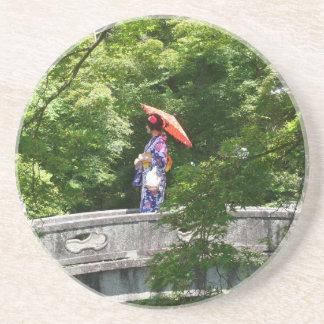 Girl Japan Sandstein Untersetzer