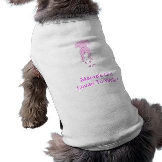 Girl rosa Hundeohr-unten Hündchen-Shirt-Mutter Top