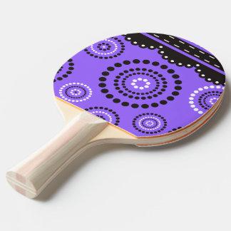 Girlande ARTdeco Schwarz-weiß + Ihr backgr. Farbe Tischtennis Schläger