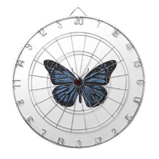 Girlie Vintages Monarch-Schmetterlings-Blau Dartscheibe