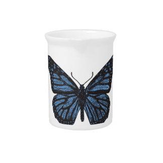 Girlie Vintages Monarch-Schmetterlings-Blau Getränke Pitcher