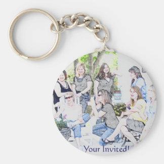 GirlsOinvite Standard Runder Schlüsselanhänger