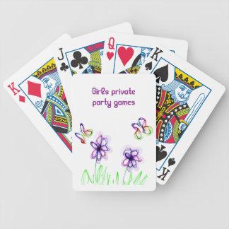 Girly Ähnliches Flammen-Blumen- und Bicycle Spielkarten