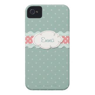 Girly Aqua Case-Mate iPhone 4 Hülle