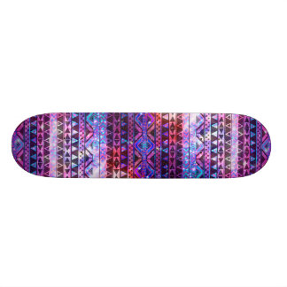 Girly aztekisches Muster-Rosa-aquamarine Skateboarddecks