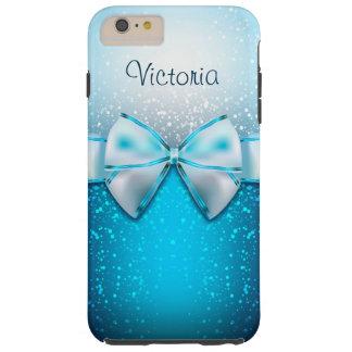 Girly blaues Glitter-Feiertag iPhone 6 PlusHüllen Tough iPhone 6 Plus Hülle
