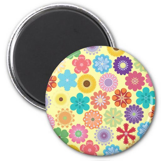 Girly Blumen-Power-buntes Blumenmuster Magnete
