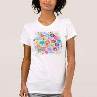 Girly Blumen-Power-buntes Blumenmuster T-Shirt