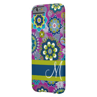 Girly Blumenmuster mit Monogramm Barely There iPhone 6 Hülle