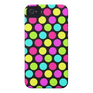 Girly bunter Spaß-NeonTupfen-Muster Case-Mate iPhone 4 Hüllen