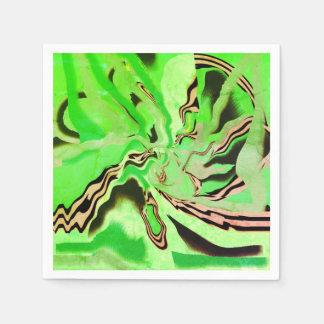 Girly Chic-abstraktes Papierserviette
