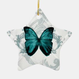Girly Chic blühen böhmischen aquamarinen Keramik Ornament