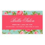 Girly Chic-elegante Vintage BlumenRosen Visitenkarten Vorlagen