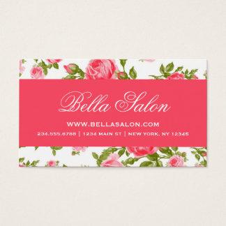 Girly Chic-elegante Vintage BlumenRosen Visitenkarte