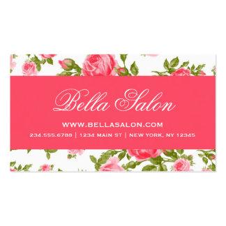 Girly Chic-elegante Vintage BlumenRosen Visitenkarten