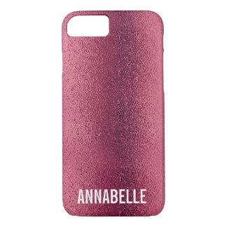 Girly Chic-Glitter Shinerosa addieren Ihren Namen iPhone 8/7 Hülle