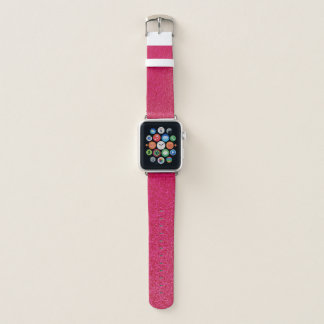 Girly Chic GLITZER-HEISSES ROSA Apple Watch Armband