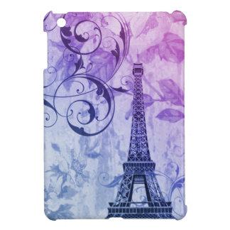 Girly Chic lila Blumenturm paris Eiffel Hüllen Für iPad Mini