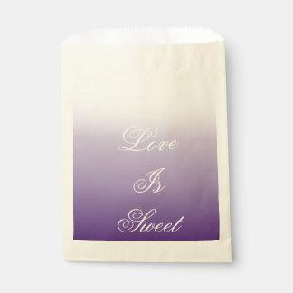 Girly Chic unbedeutendes ombre lila Lavendel lila Geschenktütchen