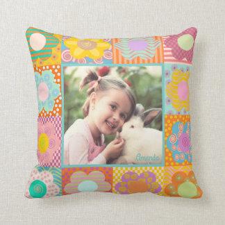 Girly dekoratives kundenspezifisches Foto Kissen